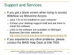 support and services1