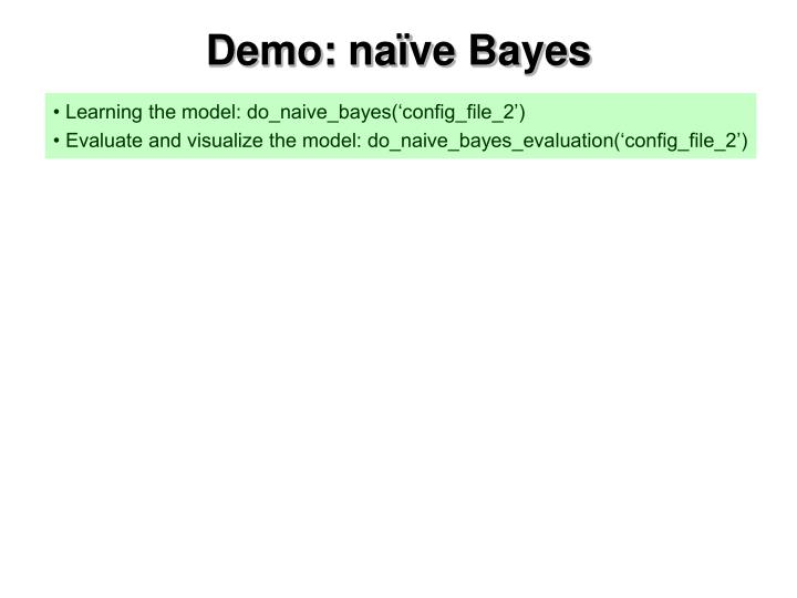 Demo: naïve Bayes