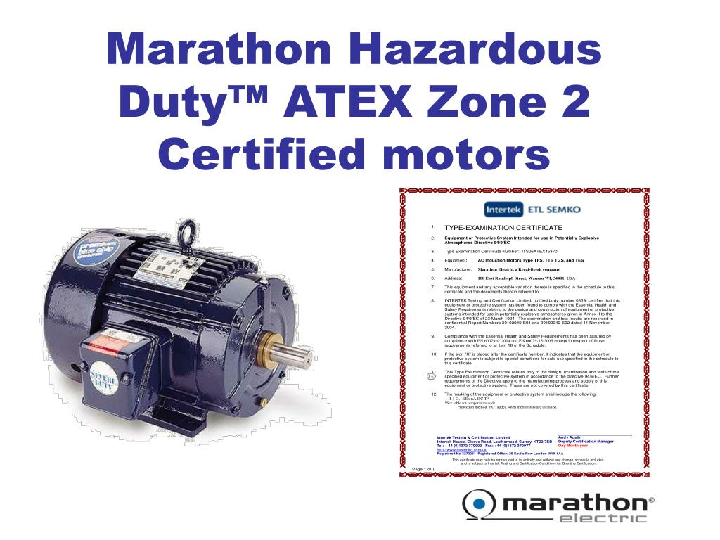 Ppt Atex Zone 2 Hazardous Duty Motors Powerpoint