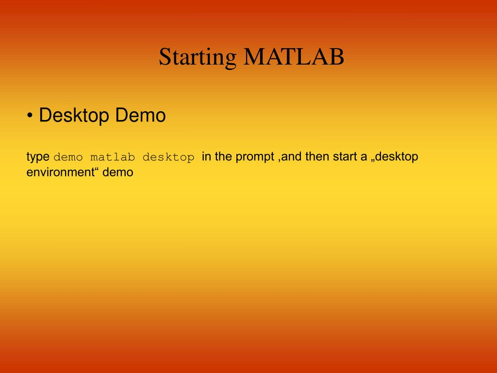 Starting MATLAB