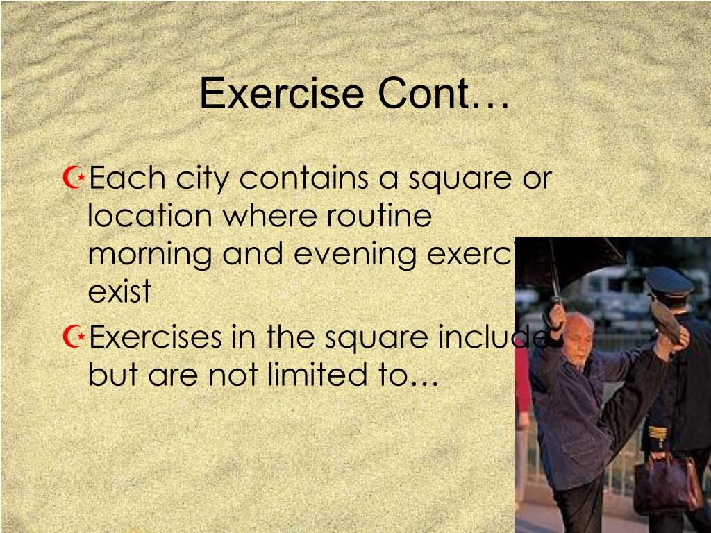 Exercise Cont…