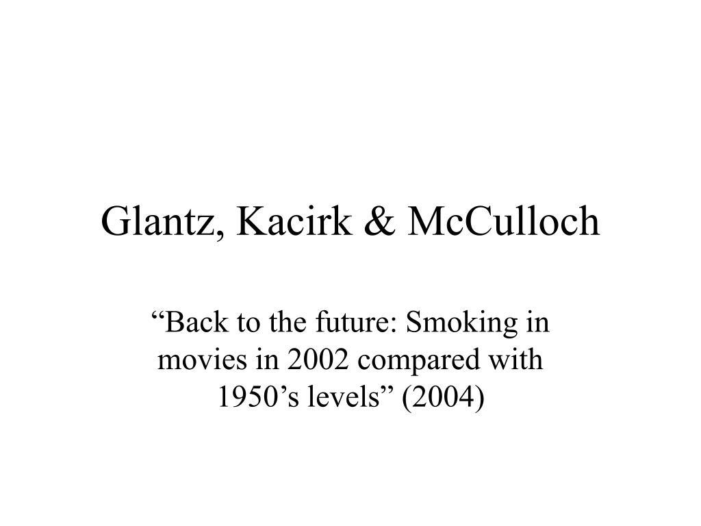 Glantz, Kacirk & McCulloch