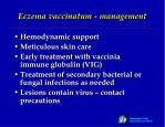 eczema vaccinatum management