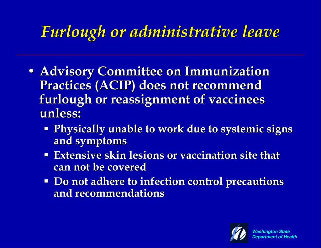 Furlough or administrative leave