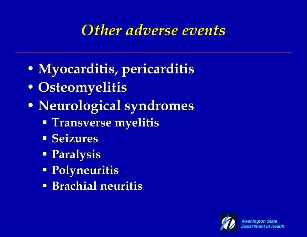 Other adverse events