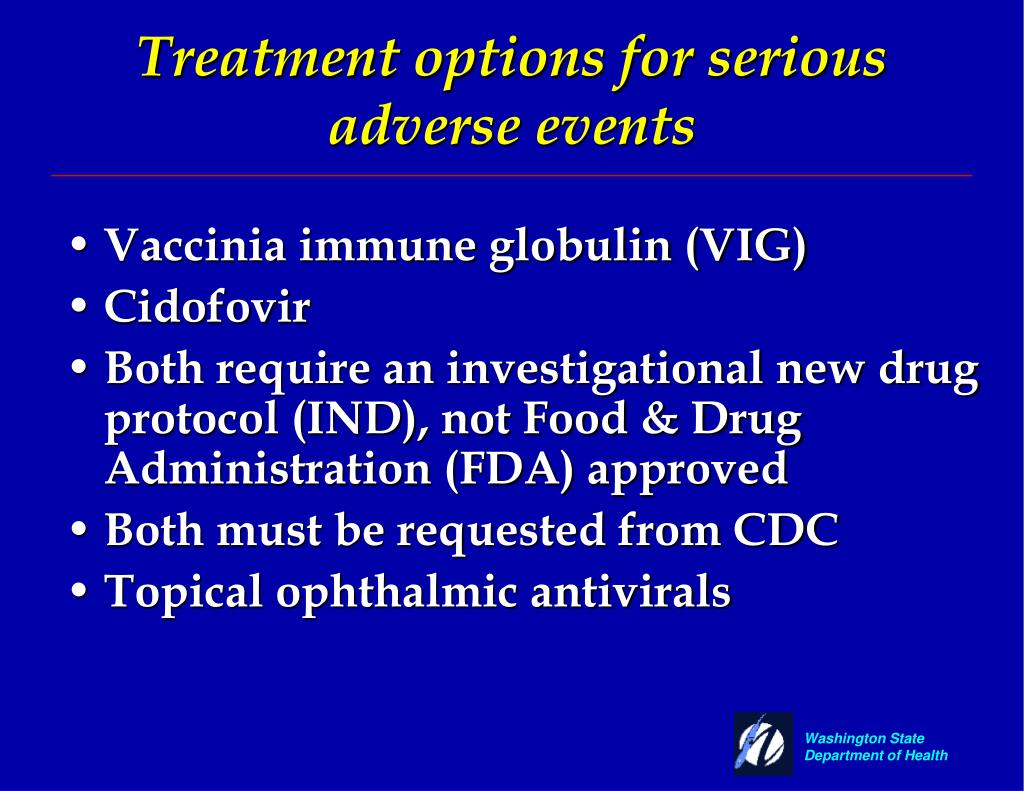 Treatment options for serious adverse events