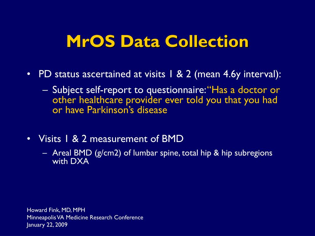 MrOS Data Collection