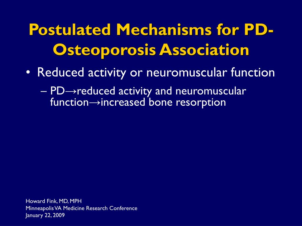 Postulated Mechanisms for PD-Osteoporosis Association