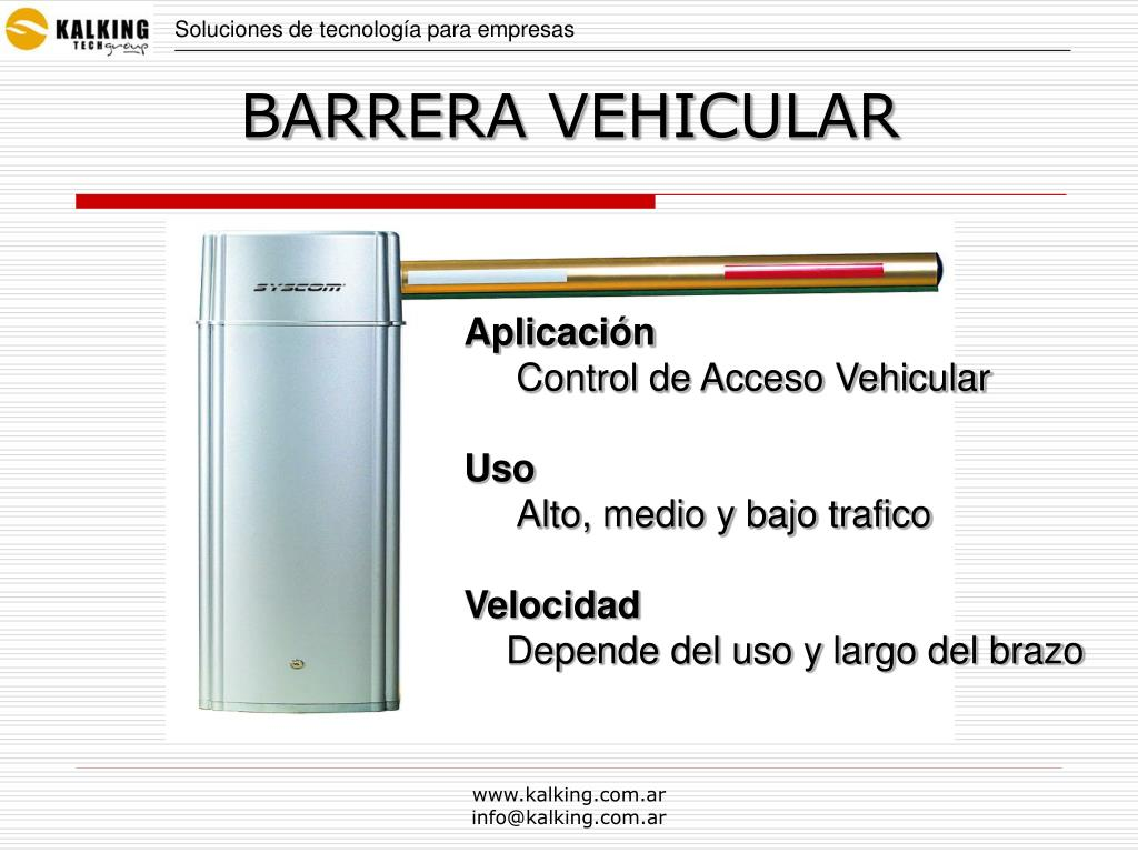 BARRERA VEHICULAR