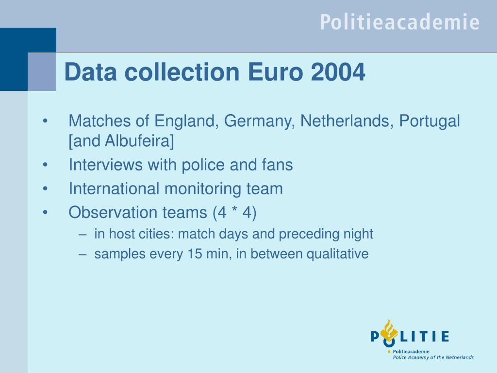 Data collection Euro 2004