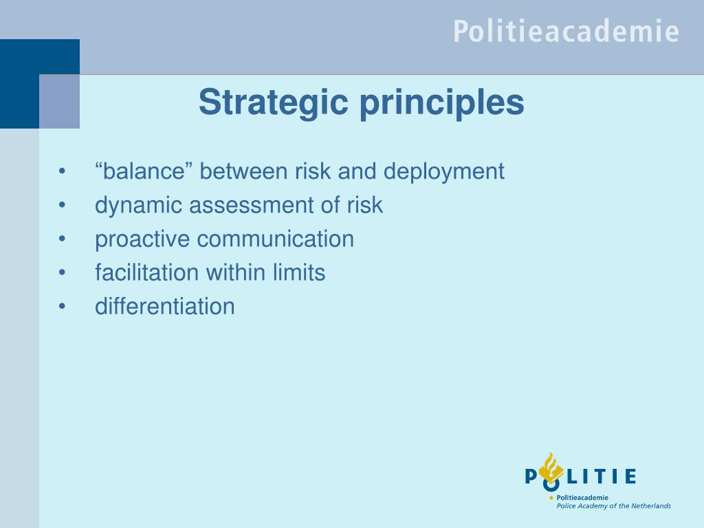 Strategic principles