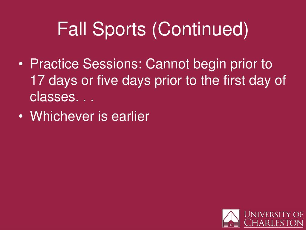 Fall Sports (Continued)
