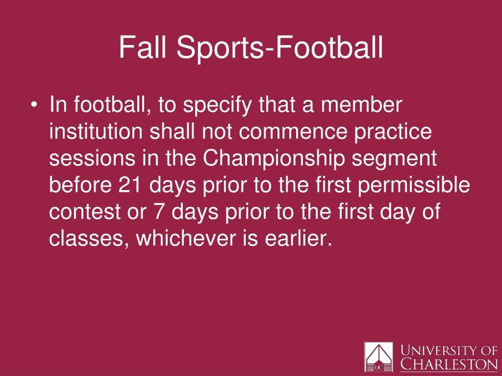 Fall Sports-Football