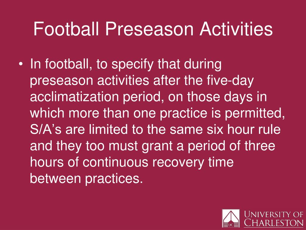 Football Preseason Activities