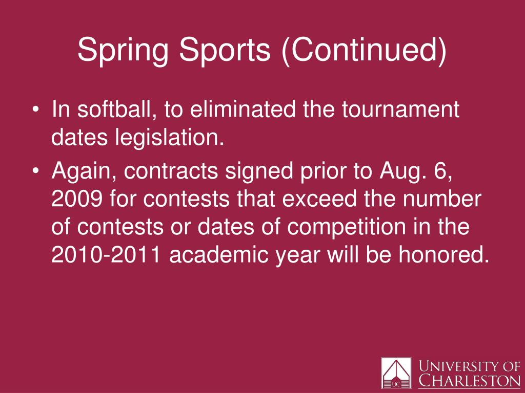 Spring Sports (Continued)