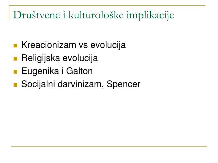 Društvene i kulturološke implikacije