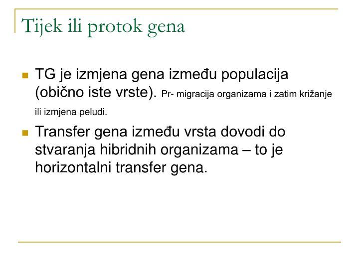 Tijek ili protok gena