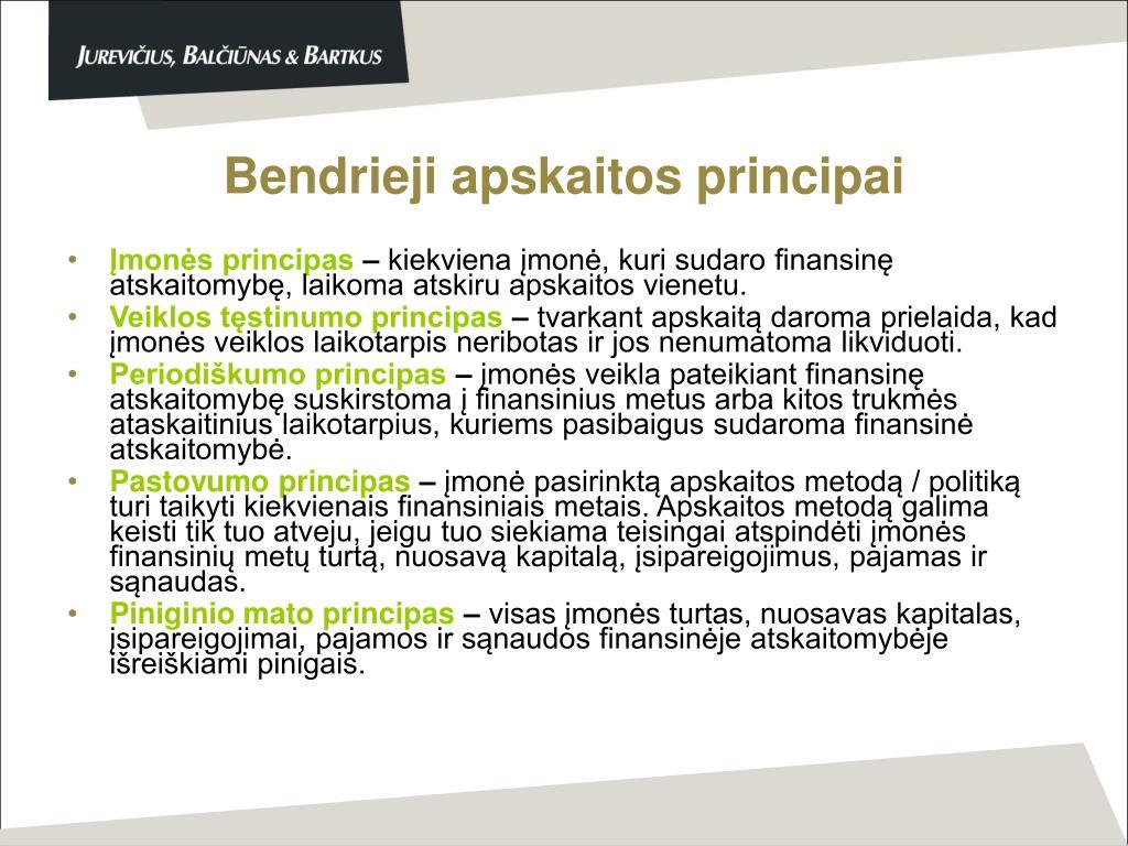 Bendrieji apskaitos principai