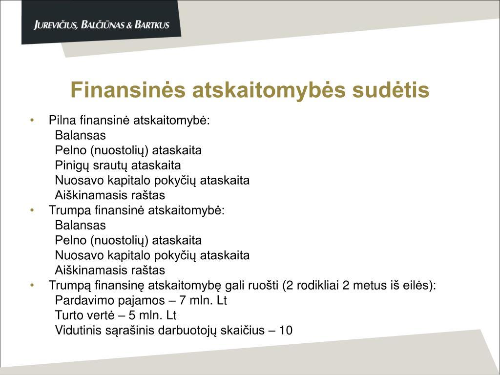 Finansinės atskaitomybės sudėtis
