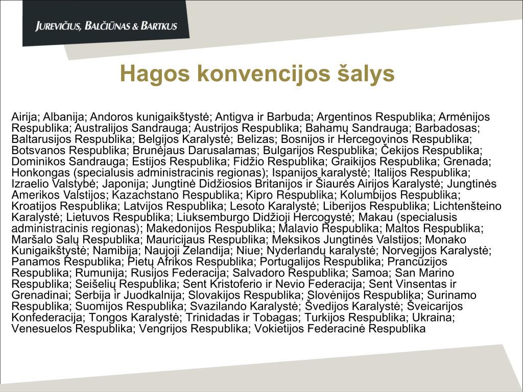 Hagos konvencijos šalys