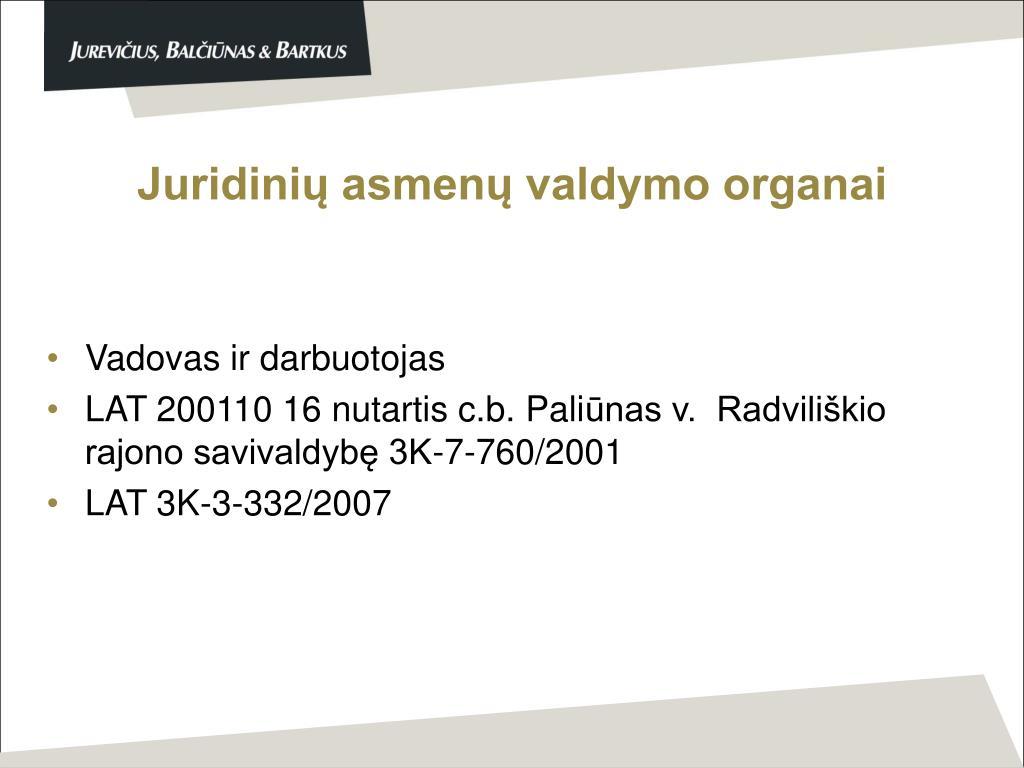 Juridinių asmenų valdymo organai