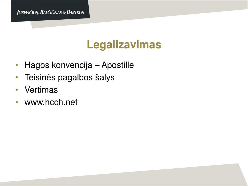 Legalizavimas