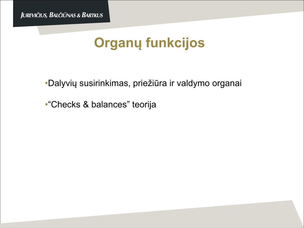 Organų funkcijos