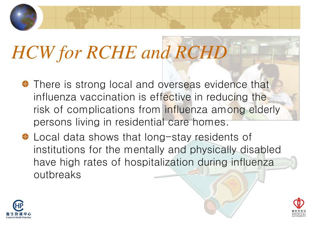 HCW for RCHE and RCHD
