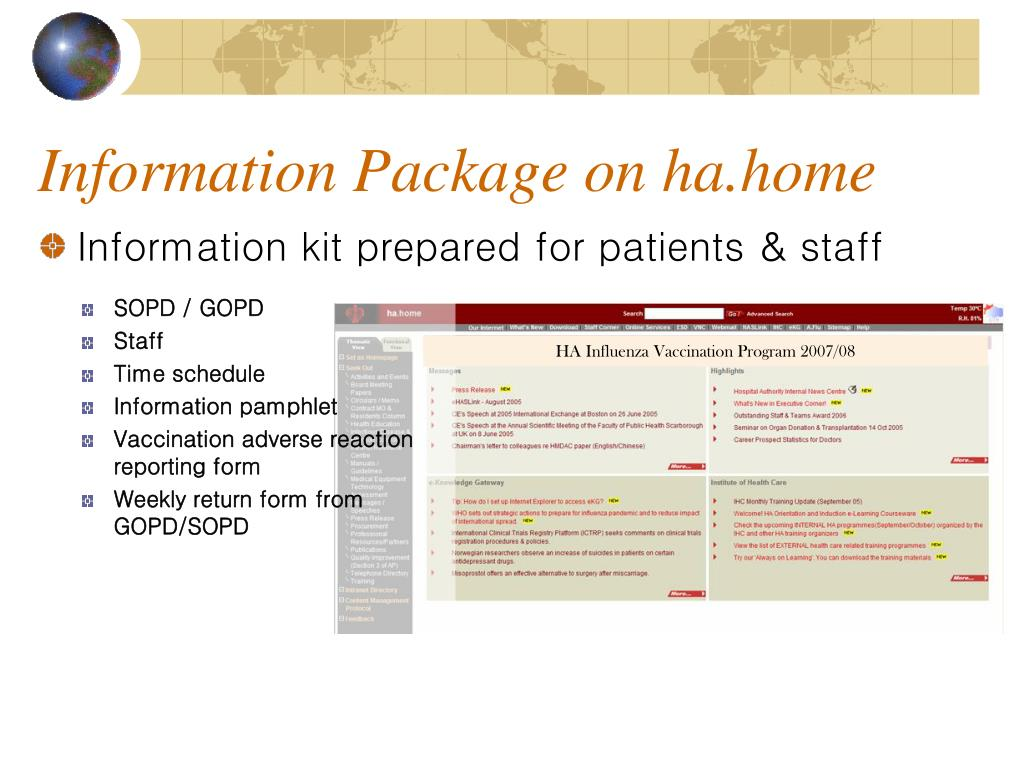 Information Package on ha.home