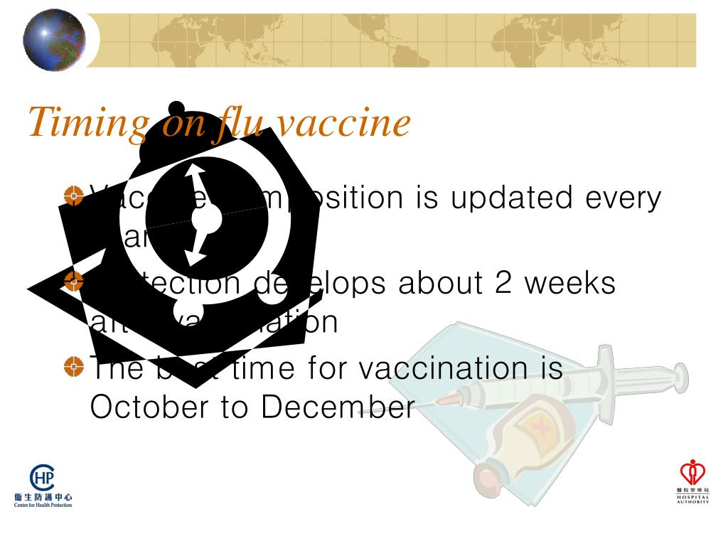 Timing on flu vaccine
