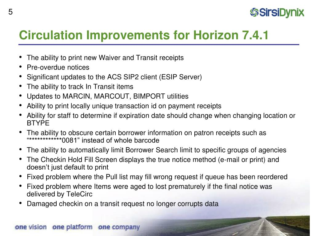 Circulation Improvements for Horizon 7.4.1
