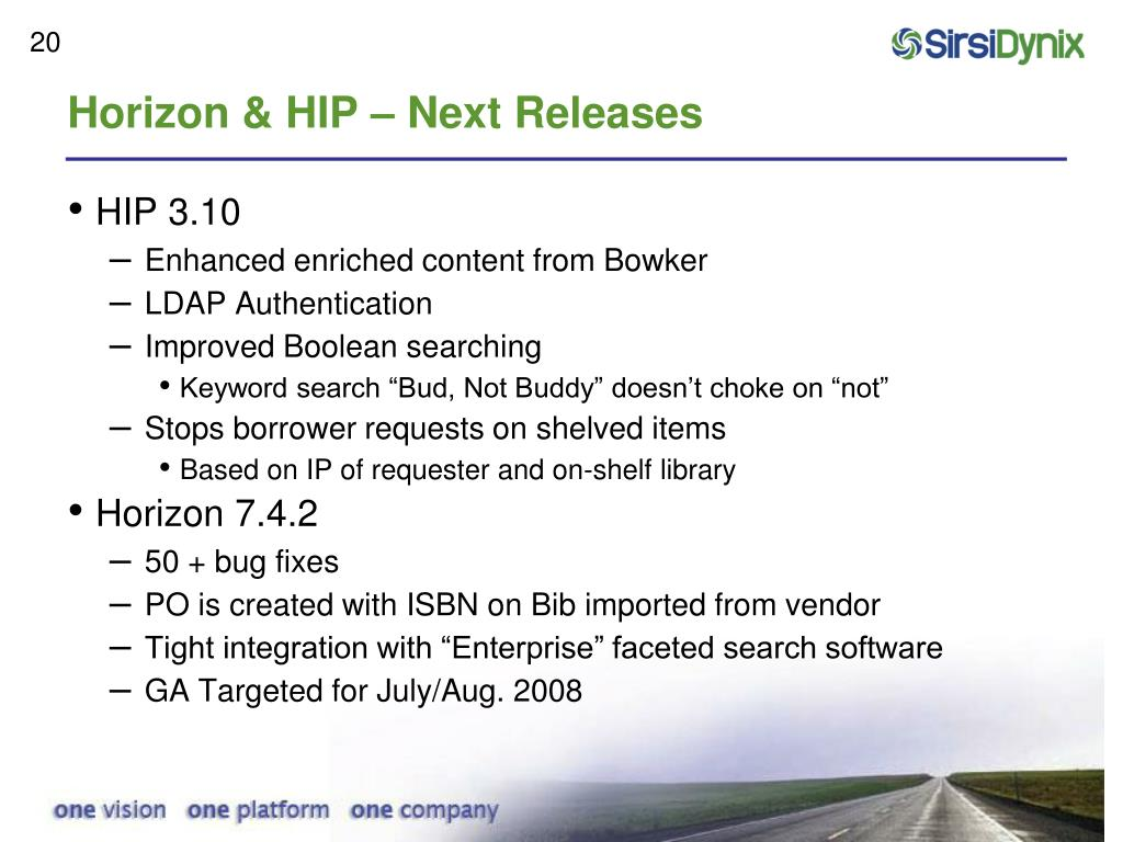 Horizon & HIP – Next Releases