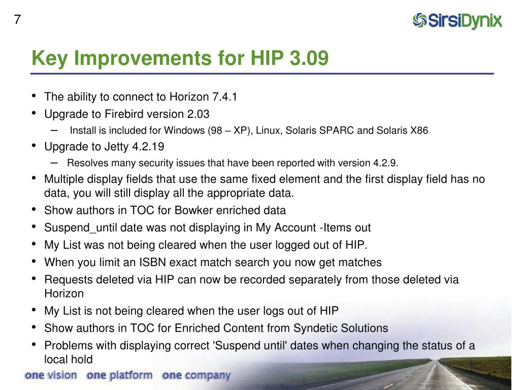 Key Improvements for HIP 3.09
