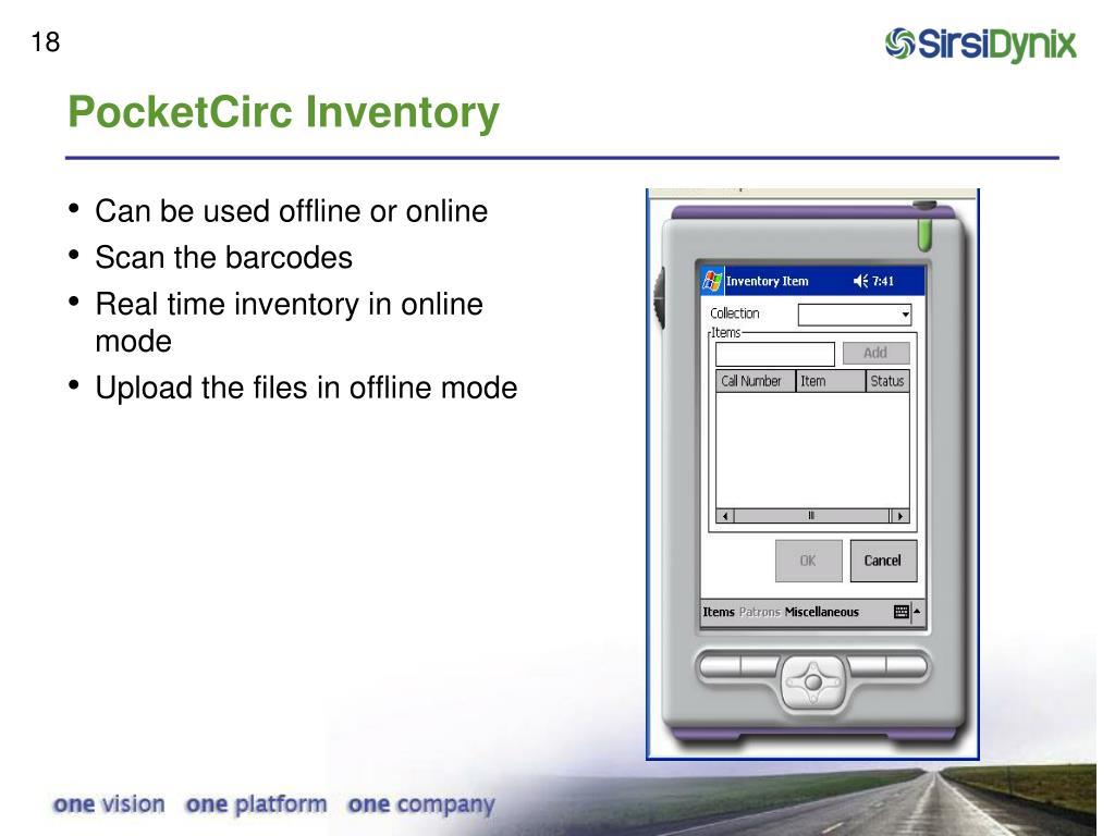 PocketCirc Inventory
