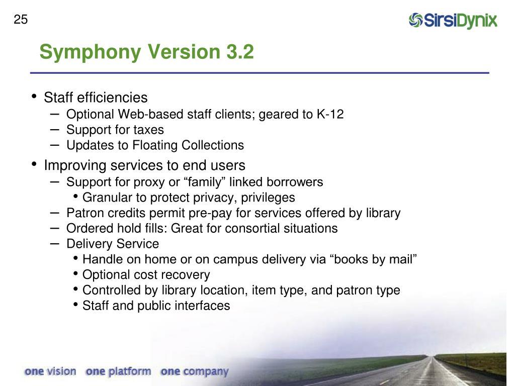 Symphony Version 3.2