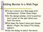 adding movies to a web page