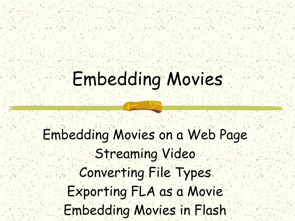 Embedding Movies