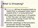 what is streaming