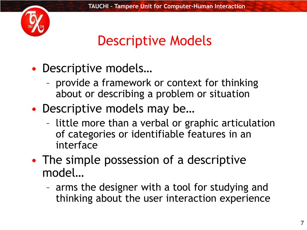 Descriptive Models