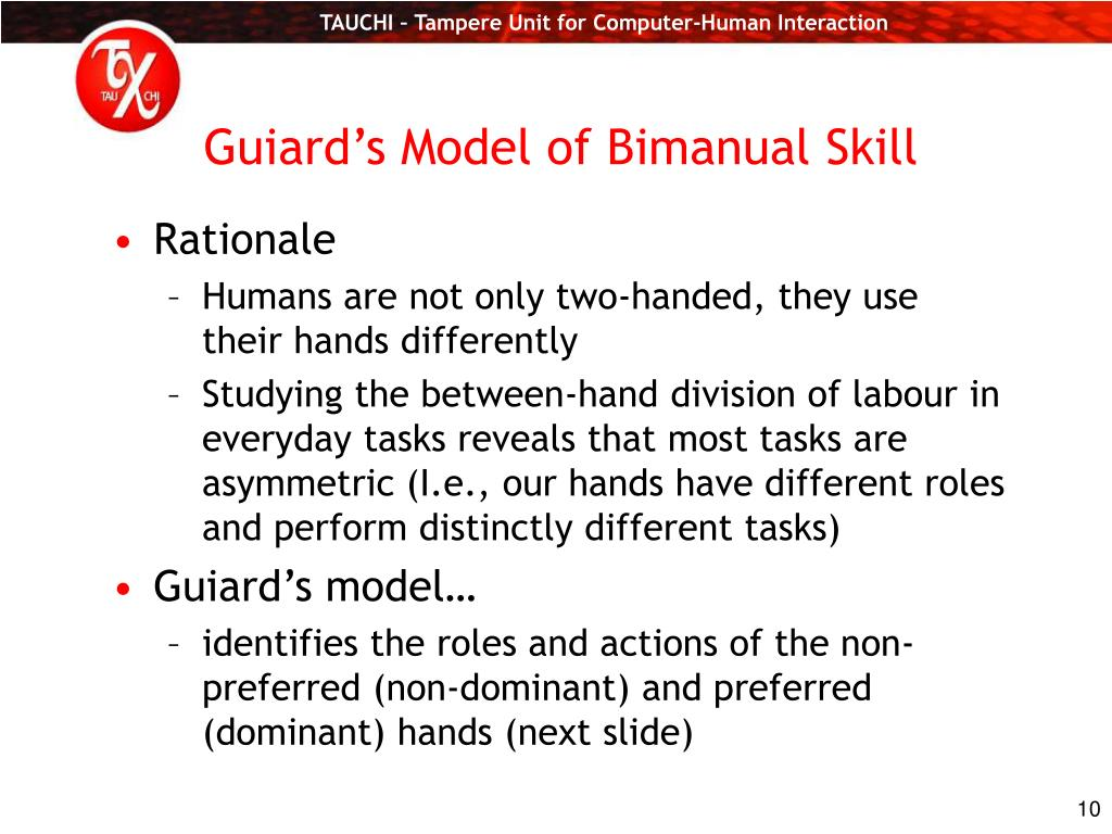 Guiard's Model of Bimanual Skill
