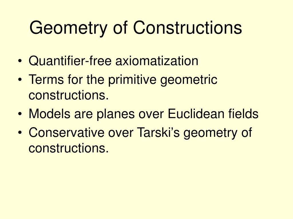 Geometry of Constructions