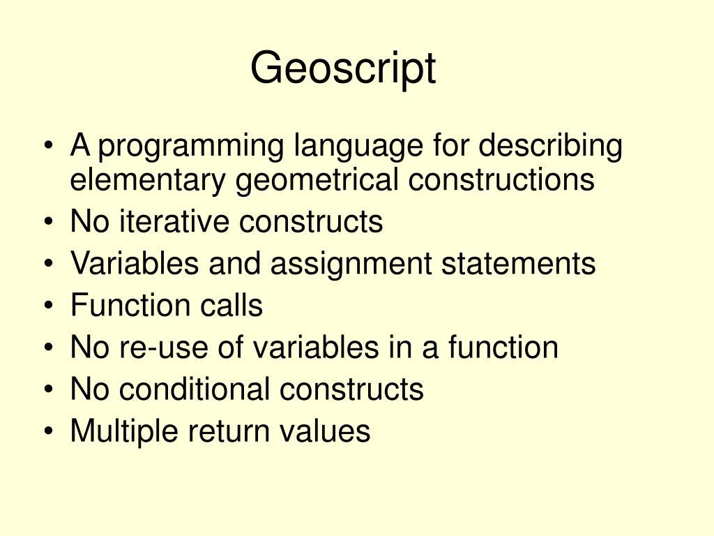 Geoscript