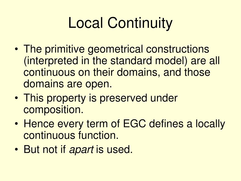 Local Continuity