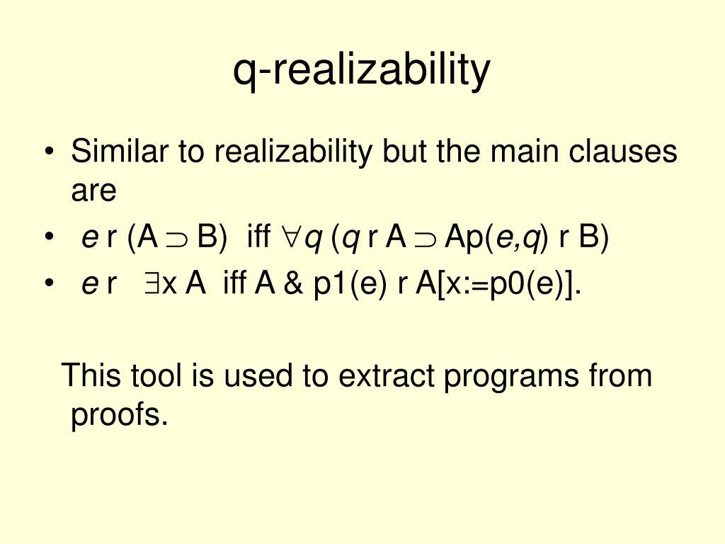 q-realizability