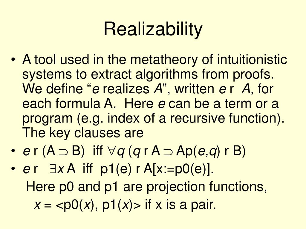 Realizability