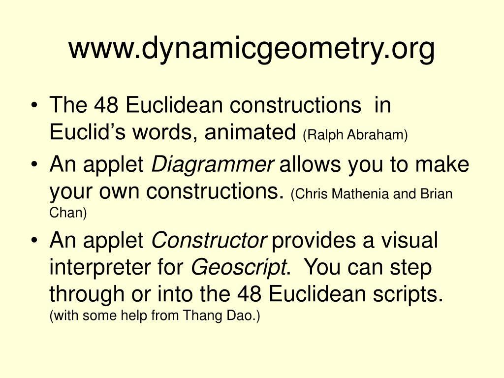 www.dynamicgeometry.org