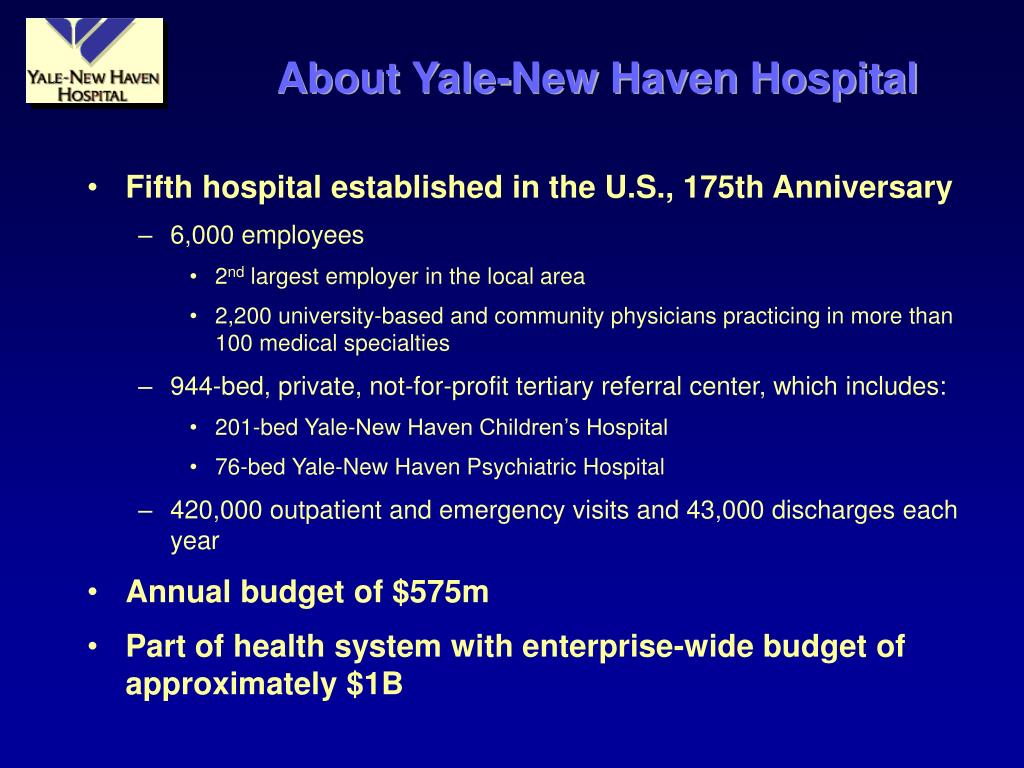 About Yale-New Haven Hospital