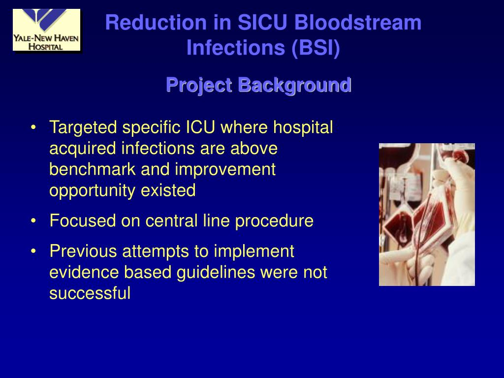 Reduction in SICU Bloodstream Infections (BSI)