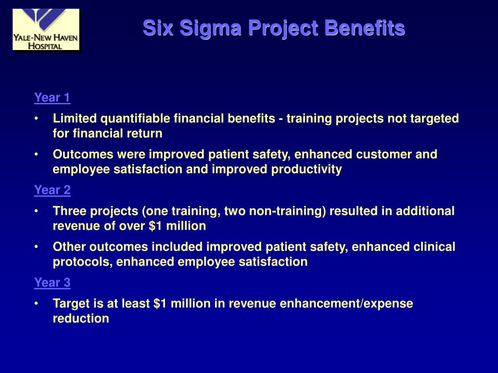 Six Sigma Project Benefits