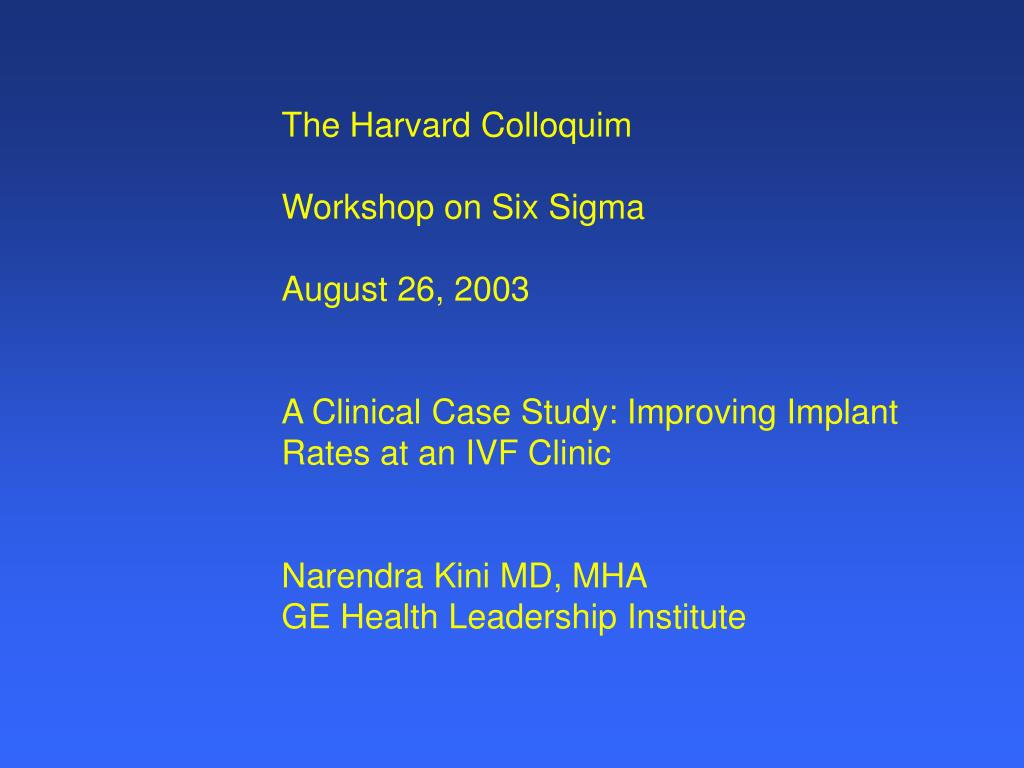 The Harvard Colloquim
